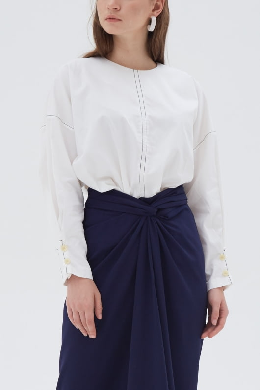 Shopatvelvet Vector Top White