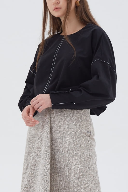 Shopatvelvet Vector Top Black