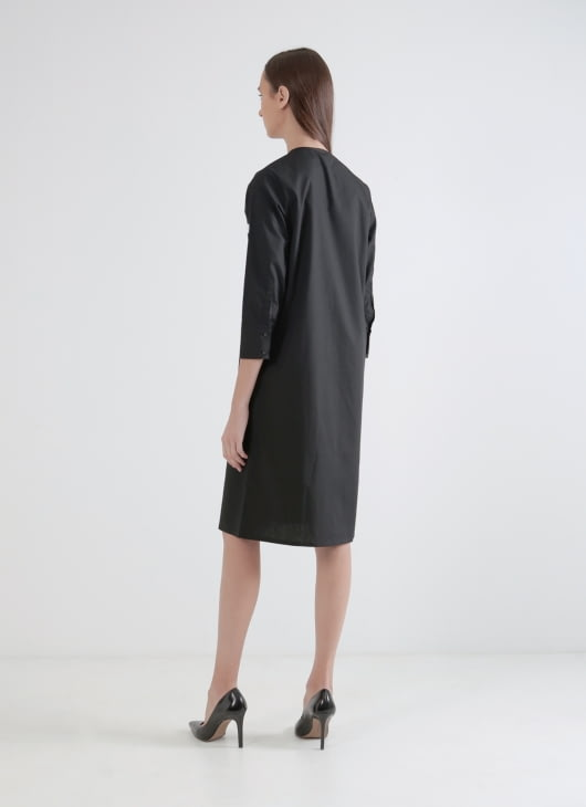 Wastu Frame Dress - Black