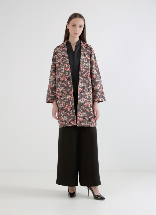 Wastu Barrel Coat - Batik