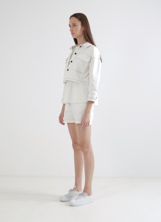 Wastu Mullion Shorts - White