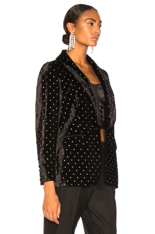 self-portrait Velvet Diamante Jacket