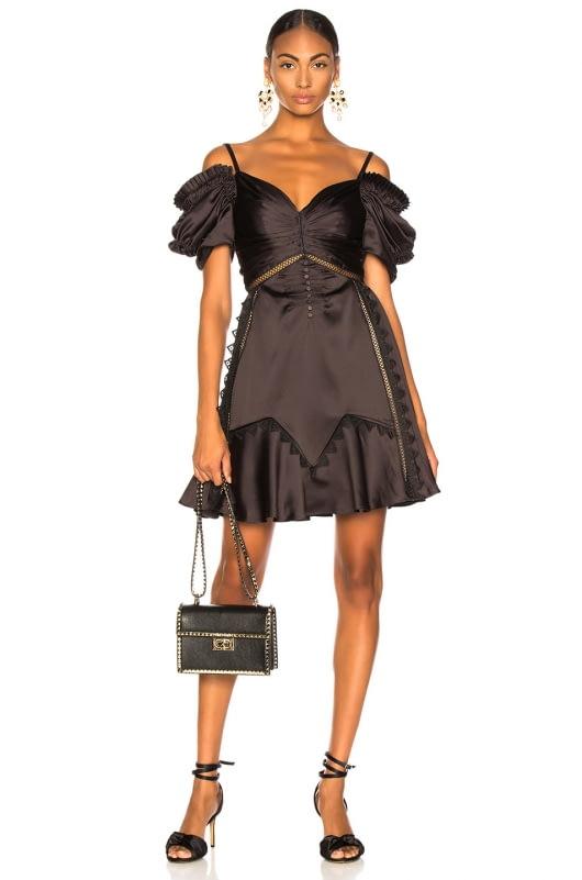 self-portrait Off Shoulder Mini Dress