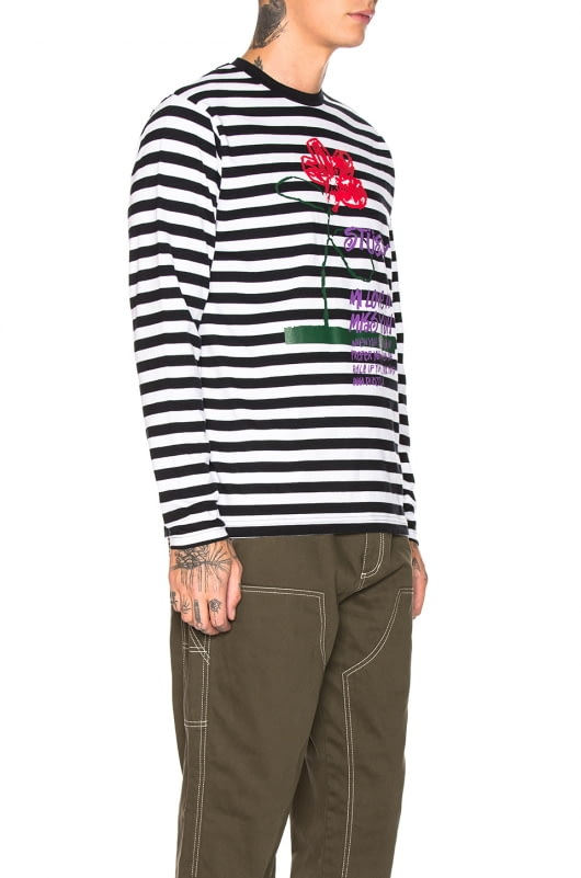 Stussy Flower Stripe Long Sleeve Crew