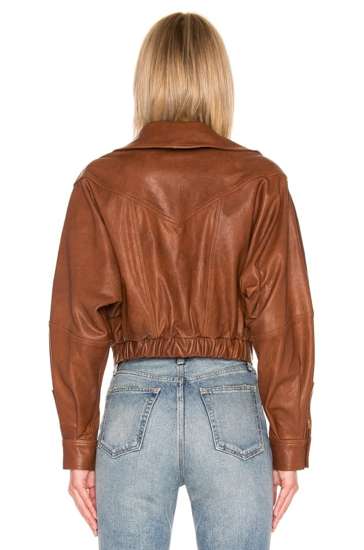 LPA Oversized Leather Jacket