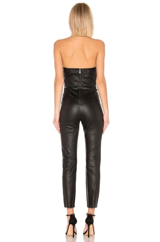 LPA Uma Leather Jumpsuit