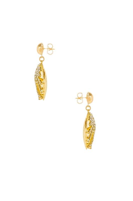 LARUICCI Crystal Seashell Earrings