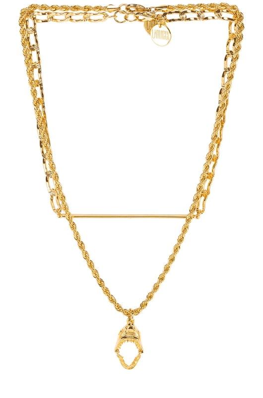 LARUICCI Layered Shark Necklace