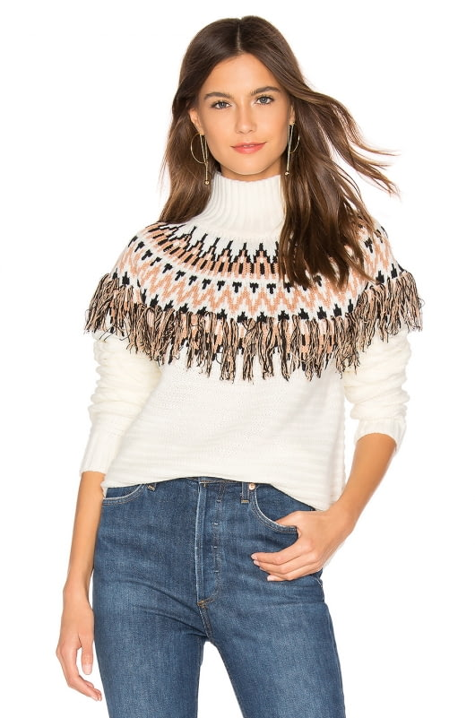 MINKPINK Wild And Free Fringe Knit Sweater