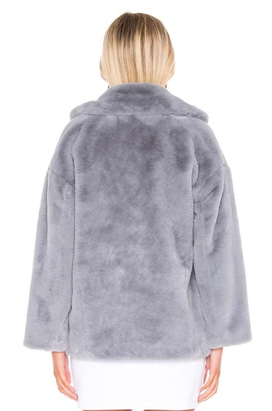 Free People Solid Kate Faux Fur Coat