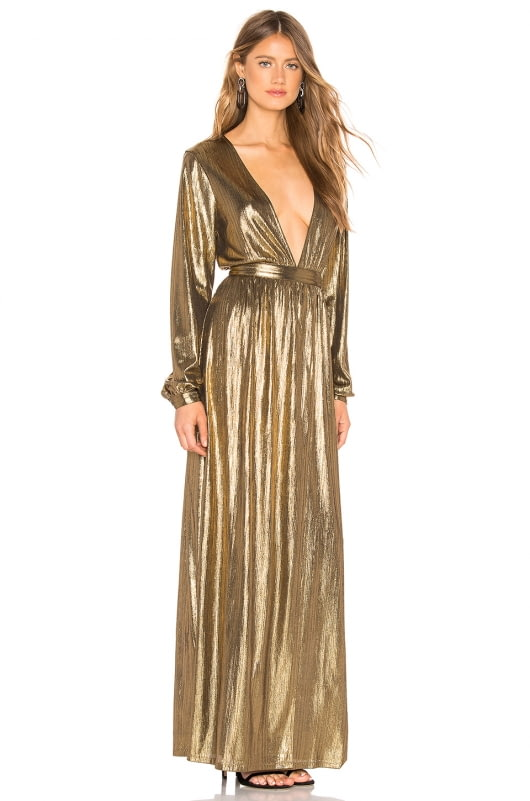 by the way. Lisa Plunge V Neck Maxi