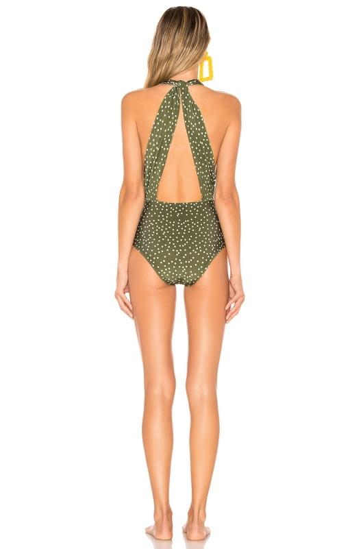 ADRIANA DEGREAS Mille Punti Halterneck Swimsuit