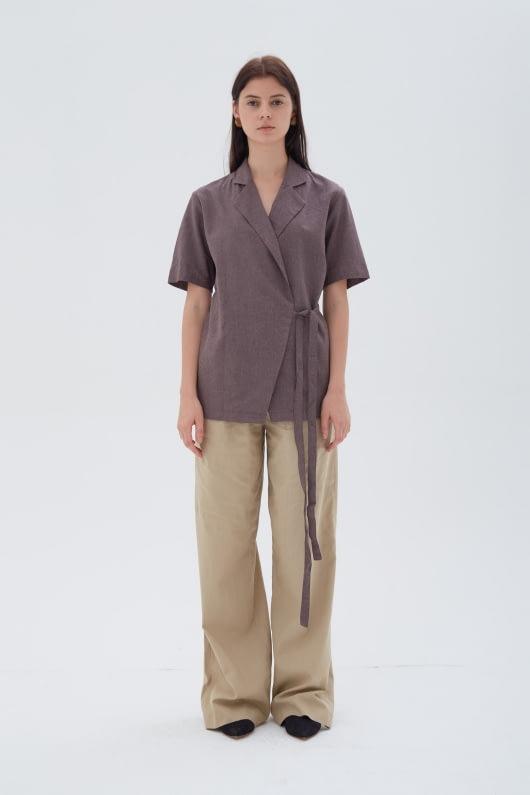 Shopatvelvet Moderne Wrap Top Violet