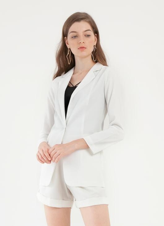 CLOTH INC Kaia Basic Blazer - White
