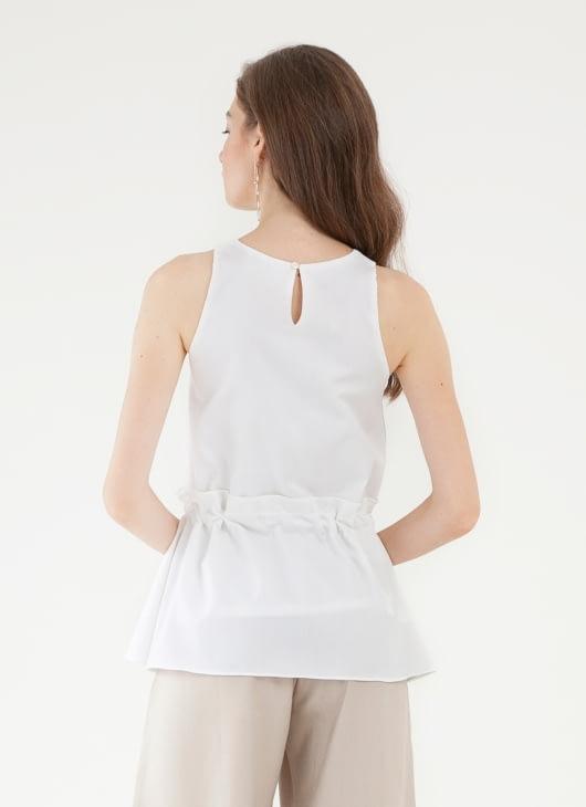 CLOTH INC Leon Tied Top - White