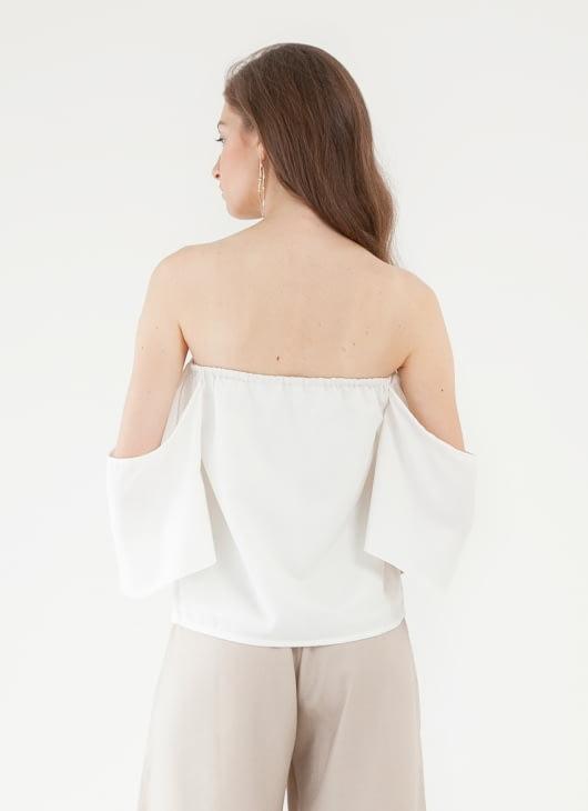 CLOTH INC Cameo Off Shoulder Top - White
