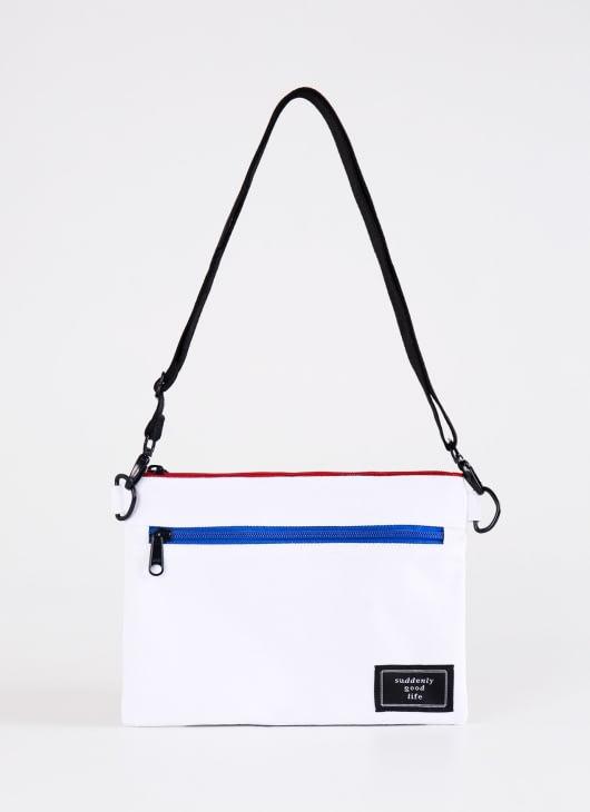 suddenly good life ##/01 Sling Bag - White Red & Blue