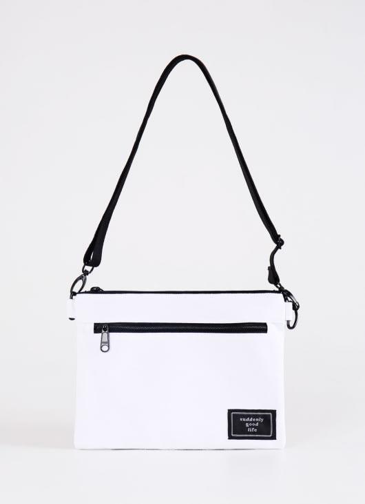 suddenly good life ##/01 Sling Bag - White Black