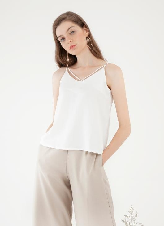 CLOTH INC Multi Strap Tank Top - White