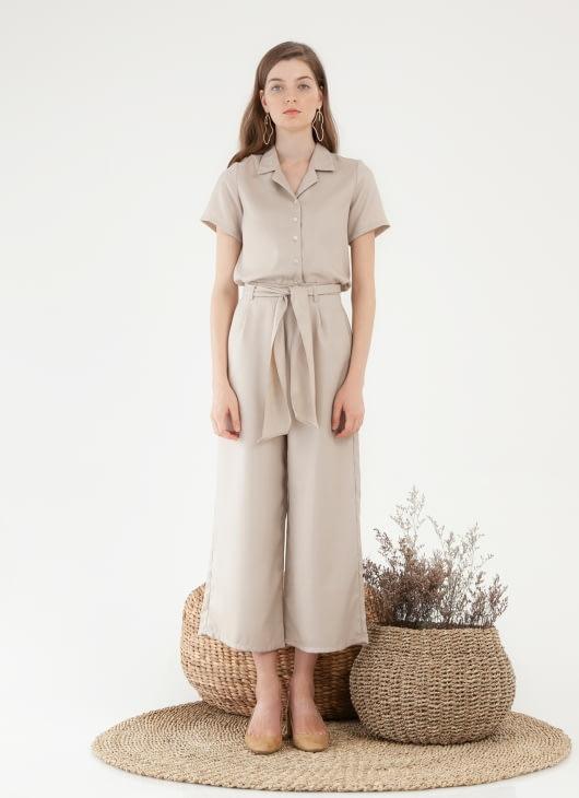 CLOTH INC Leica Culottes - Light Beige