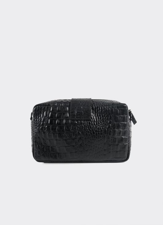 Aesthetic Pleasure Kill Croc Bag - Black