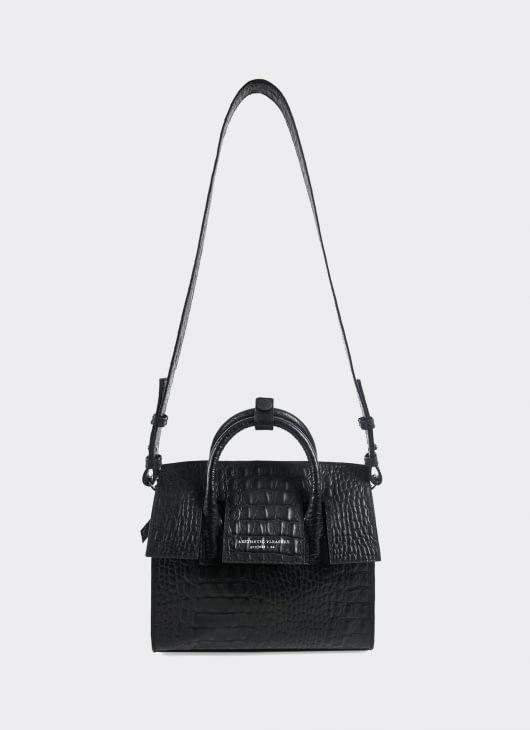 Aesthetic Pleasure Mini Isolation Croc Bag - Black