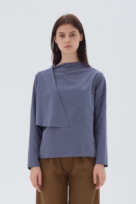 Shopatvelvet Flap Top Stone Blue