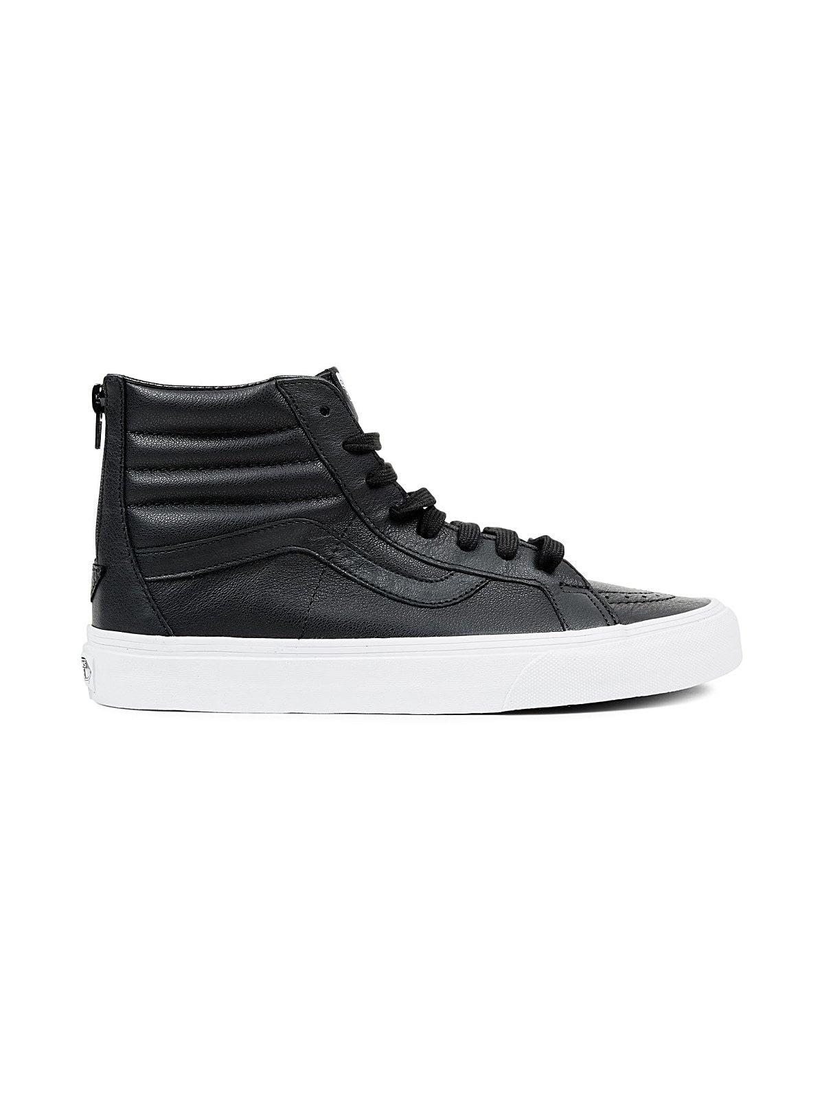 Jual Vans Sk8 Hi Reissue Zip Premium Leather Black 100 Atsthelabel Eeva Top Original Bobobobo