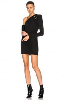 Mugler Fluid Jersey One Shoulder Mini Dress