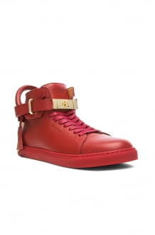 Buscemi 100 MM High Top Leather Sneakers