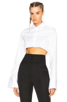 Off-White Half Crop Shirt