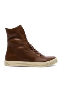 Rick Owens Leather Mastadon Sneakers