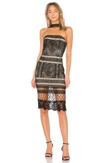 VONE Choker Neck Lace Dress