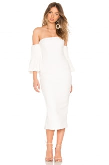 ASILIO Yolanda Off Shoulder Pintuck Dress