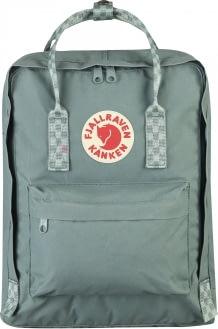 FJALLRAVEN Fjallraven Kanken Classic Backpack Frost Green Chess Pattern