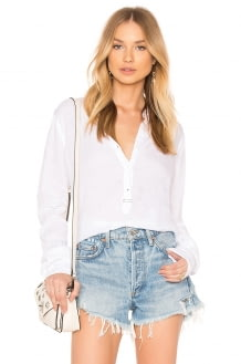 Stateside Collarless V-Neck Shirt