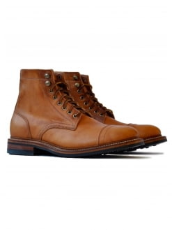 Oakstreet Bootmakers Oakstreet Bootmakers English Tan Dublin Captoe Dainite Trench Boot
