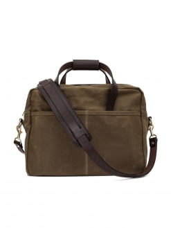 Oakstreet Bootmakers Oakstreet Bootmakers Waxed Canvas Utility Briefcase