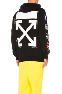 Off-White Patch Full Zip Hoodie