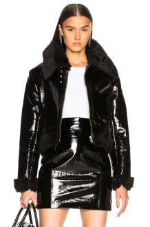 Palmer Girls X Miss Sixty Patent Leather & Faux Fur Jacket