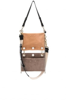 Chloé Small Roy Calfskin & Suede Double Clutch