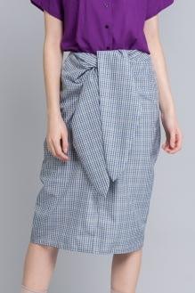 Shopatvelvet Blue Check Ty Skirt