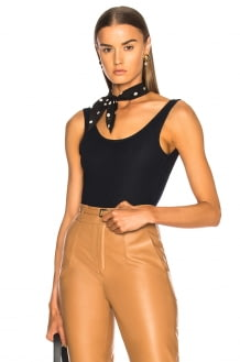 Zeynep Arcay Denim Bodysuit