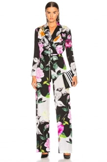 Off-White Floral Coulisse Jumpsuit