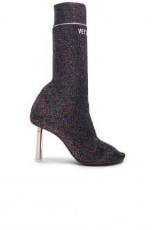 Vetements Lurex Sock Ankle Boots