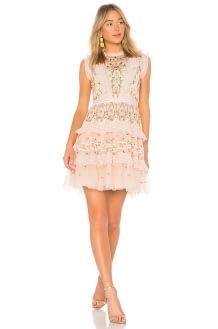 Needle & Thread Lattice Rose Mini Dress