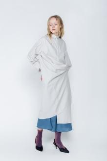 Shopatvelvet Light Grey Stone Multiway Dress
