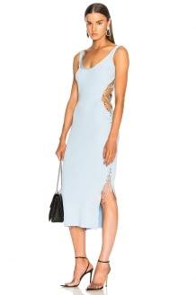 Mugler Side Lace Up Midi Dress