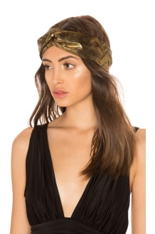 Jennifer Behr Satin Turban Headwrap