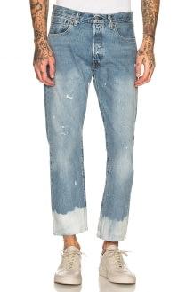 LEVI'S Premium 501 Cut Off Crop Jeans